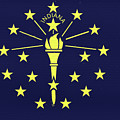 Flag Of Indiana Wall by Roy Pedersen