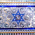 Flag Of Israel. Bead Embroidery With Crystals by Sofia Metal Queen