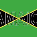 Flag Of Jamaica Word by Roy Pedersen