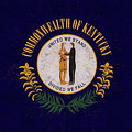 Flag Of Kentucky Grunge by Roy Pedersen