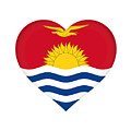 Flag Of Kiribati Heart by Roy Pedersen