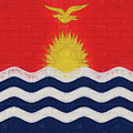 Flag Of Kiribati Wall by Roy Pedersen