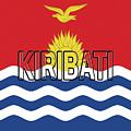 Flag Of Kiribati Word by Roy Pedersen