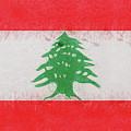 Flag Of Lebanon Grunge by Roy Pedersen