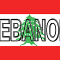 Flag Of Lebanon Word by Roy Pedersen