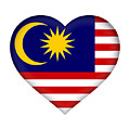 Flag Of  Malaysia Heart by Roy Pedersen