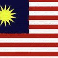 Flag Of Malaysia Wall. by Roy Pedersen