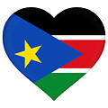 Flag Of  South Sudan Heart by Roy Pedersen