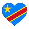 Flag Of The Congo Heart by Roy Pedersen