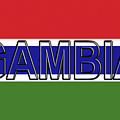 Flag Of The Gambia Word. by Roy Pedersen