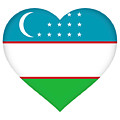 Flag Of Uzbekistan Heart by Roy Pedersen