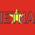 Flag Of Vietnam Word by Roy Pedersen