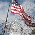 Flag Over Spokane Pavilion by Carol Groenen