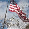 Flag Over Spokane Pavilion by Carol Groenen