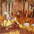 Flagging Deer by Debbie LaFrance