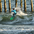 Flagler Beach Surf Day by Deborah Benoit