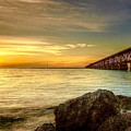 Flagler Bridge At Sunset by Mark Reinnoldt