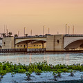 Flagler Bridge In The Evening II by Debra and Dave Vanderlaan