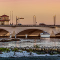 Flagler Bridge In The Evening IIi by Debra and Dave Vanderlaan