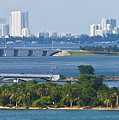 Flagler Memorial Island And Biscayne Bay by Ed Gleichman
