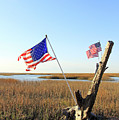 Flags Near Tybee by Jennifer Robin