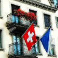 Flags Of Switzerland And Zurich by Ginger Wakem