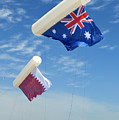Flags Over Doha For The Asian Cup by Paul Cowan