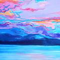 Flagstaff Lake Winter Sunset by Expressionistart studio Priscilla Batzell