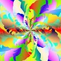 Flamboyant Fractal Fire Flower by Michael Skinner