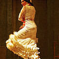 Flamenco Dancer #20 - The White Dress by Mary Machare