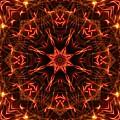 Flaming Catherine Wheel by M E Cieplinski