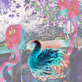 Flamingo Abstract 1 by Elyza Rodriguez