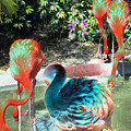 Flamingo Abstract 2 by Elyza Rodriguez