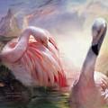 Flamingo Dawn by Carol Cavalaris