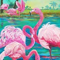 Flamingo Vacation by Phyllis Knight