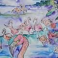 Flamingos  by Arrin Burgand