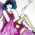 Flapper Girl 4 by Rae Chichilnitsky