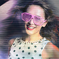 Flashback Of The Retro Hologram Girl by Jorgo Photography - Wall Art Gallery