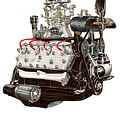 Flat Head V 8 Engine by Jack Pumphrey