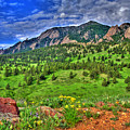 Flatirons And Clouds by Scott Mahon