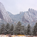 Flatirons From The South Boulder Colorado by James BO  Insogna