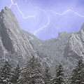 Flatirons Lightning by James BO  Insogna