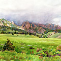 Flatirons Vista by Anne Gifford