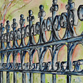 Fleur De Lisrod Iron Fence by Catherine Wilson
