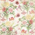 Fleurs De Pivoine - Watercolor In A French Vintage Wallpaper Style by Audrey Jeanne Roberts