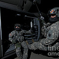 Flight Medics Practice With The Uh-60 by Terry Moore