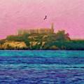 Flight Over Alcatraz by Blake Richards