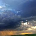 Flint Hills Storm Panorama 2 by Eric Benjamin