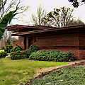 Fllw Rosenbaum Usonian House - Side View by Paulette B Wright
