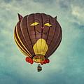 Floating Cat - Hot Air Balloon by Bob Orsillo